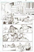 R.E.B.E.L.S #24 pg 8 - Lobo in Bar ~ Signed  Comic Art