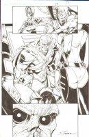 R.E.B.E.L.S #23 pg 22 - Villain & Evil Ass Shot ~ Signed  Comic Art