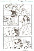 R.E.B.E.L.S #24 pg 5 - Beautiful Lingerie Babe Page ~ Signed  Comic Art