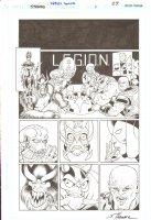 R.E.B.E.L.S Annual #1 pg 27 - Great Aliens Page ~ Signed  Comic Art