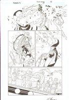 R.E.B.E.L.S #5 pg 16 - Fero Led ~ Signed  Comic Art