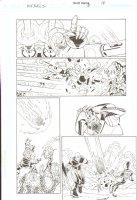 R.E.B.E.L.S #5 pg 19 - Action Page ~ Signed  Comic Art