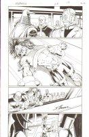 R.E.B.E.L.S #25 pg 15 - Tied to Table Page - Signed  Comic Art