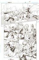 R.E.B.E.L.S. #15 p. 15 - Gladiator Arena Action - 2010 Signed Comic Art