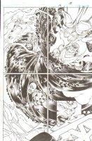 R.E.B.E.L.S. #15 p. 18 - Smite and Starro Action - 2010 Signed Comic Art