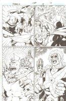 R.E.B.E.L.S. #15 p. 16 - Starro & Smite Action - 2010 Signed Comic Art