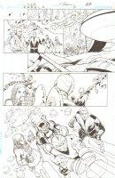 R.E.B.E.L.S. #11 p. 24 - Adam Strange, Wildstar and more - 2010 Signed Comic Art