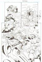 R.E.B.E.L.S. #5 p. 21 - Xylon Action Sequence - 2010 Signed Comic Art