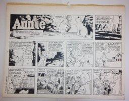Little Orphan Annie Sunday Strip - LA - 3/13/1983 Signed Comic Art