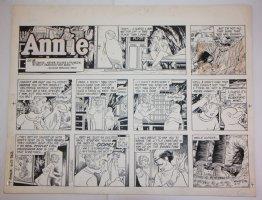 Little Orphan Annie Sunday Strip - LA - 6/17/1984 Signed Comic Art