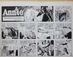 Annie Sunday Strip - LA - Out of Control Robot - 5/1/1983 Comic Art