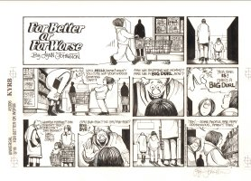 For Better or For Worse Sunday - Grocery Shopping - 3/19/95 Signed  Comic Art