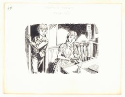 Tom Sawyer Chapter 20 p.188 - Finding a book - 1970's Comic Art