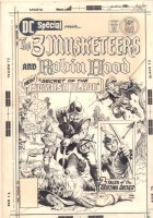 DC Special #23 Cover - The 3 Musketeers and Robin Hood in the Secret of the Spanish Blade - 1976 Signed Comic Art