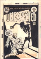 The Unexpected #163 Cover - DC Horror Skeleton - 1975 Comic Art