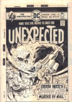 The Unexpected #167 Cover - Outter Space Meteor Demon - 1975 Signed