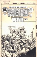 Weird War Tales #35 Cover - vs. Monsters - 1975 Signed