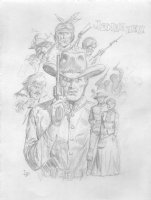 Jonah Hex All Pencil Commission with Characters - Initialed Comic Art