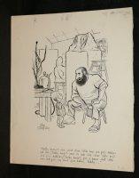 Sculpture Explaining Self Image to Son Gag - Signed Comic Art