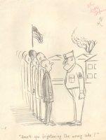 Drill Sergeant Army Gag - (8.5 x 11 Comic Art