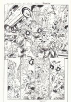All-New X-Men #1 p.9 - Cyclops fights the Ghosts of Cyclops Splash - 2016 Signed Comic Art