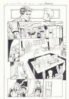 All-New X-Men #1 p.13 - Beast, Iceman, Genesis (Kid Apocalypse Clone), & Oya  - 2016 Signed Comic Art
