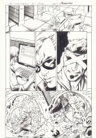 All-New X-Men #1 p.15 - Thirst vs. Cyclops at College - 2016 Signed Comic Art