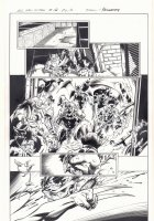 All-New X-Men #12 p.10 - Demons and X-23 Wolverine (Laura Kinney) Slashing - 2016 Signed Comic Art
