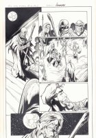 All-New X-Men #10 p.2 - Beast Captured by the Sandstormers in Ancient Egypt - Mystic App - 2016 Signed Comic Art