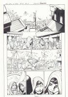 All-New X-Men #10 p.4 - En Sabah Nur (Apocalypse) and Genesis (Kid Apocalypse Clone) in Disguise in Ancient Egyptian Seaport - 2016 Signed Comic Art