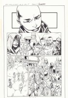 All-New X-Men #10 p.7 - Erika of Amnisos, En Sabah Nur (Apocalypse), and Genesis (Kid Apocalypse Clone) in Ancient Egyptian Seaport - 2016 Signed Comic Art