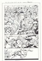 All-New X-Men #10 p.19 - En Sabah Nur (Apocalypse) and Genesis (Kid Apocalypse Clone) Action vs. The Golden Raiders at an Ancient Egyptian Seaport - 2016 Signed Comic Art