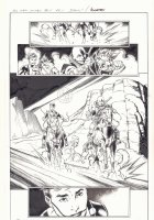 All-New X-Men #11 p.1 - En Sabah Nur (Apocalypse) and Genesis (Kid Apocalypse Clone) on Horseback in Ancient Egypt - 2016 Signed Comic Art