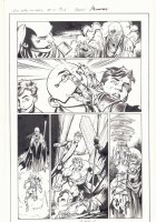 All-New X-Men #11 p.6 - En Sabah Nur (Apocalypse), Genesis (Kid Apocalypse Clone), and Beast Action vs. Mystic in Ancient Egypt - 2016 Signed Comic Art