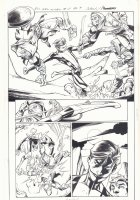 All-New X-Men #11 p.9 - Genesis (Kid Apocalypse Clone) Action vs. the Sandstormers in Ancient Egypt - 2016 Signed Comic Art