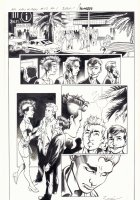 All-New X-Men #13 p.1 - Iceman, Genesis (Kid Apocalypse Clone), & Oya in Miami - 2016 Signed Comic Art