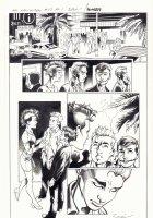 All-New X-Men #13 p.1 - Iceman, Genesis (Kid Apocalypse Clone), & Oya in Miami - 2016 Signed Comic Art