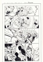 All-New X-Men #13 p.15 - Romeo and Iceman vs. Moth Creature in Miami - 2016 Signed Comic Art