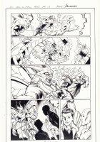 All-New X-Men #13 p.15 - Romeo and Iceman vs. Moth Creature in Miami - 2016 Signed Comic Art