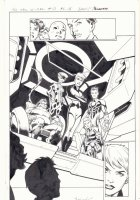 All-New X-Men #13 p.16 - Inhumans Splash - 2016 Signed Comic Art