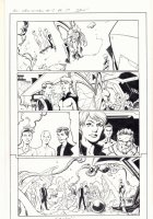 All-New X-Men #13 p.17 - Inhumans with Romeo, Oya, Iceman, and Genesis (Kid Apocalypse Clone) - 2016 Signed Comic Art