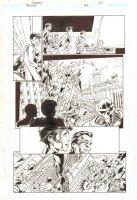 Trinity #22 p.20 - Tomorrow Woman - 2008  Signed by Mark Bagley Comic Art