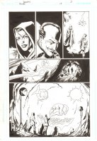 Trinity #19 p.5 - Tarot and Alfred Signed by Mark Bagley Comic Art
