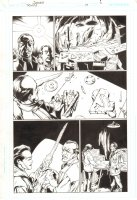 Trinity #19 p.6 - Tarot and Alfred Signed by Mark Bagley Comic Art