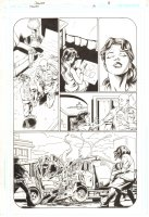 Trinity #19 p.8 - Tarot - 2008 Signed by Mark Bagley Comic Art