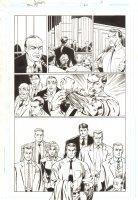 Trinity #20 p.5 - Senator Joseph McCarthy Flashback - 2008 Signed by Mark Bagley Comic Art