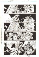 Trinity #22 p.16 - Green Arrow and Speedy - 2008 Signed by Mark Bagley Comic Art