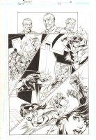 Trinity #22 p.18 - Justice Society International - 2008 Signed by Mark Bagley Comic Art