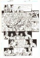 Trinity #22 p.22 - Justice Society International - 2008 Signed by Mark Bagley Comic Art
