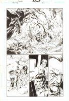 Trinity #23 p.1 - Justice Society International - 2008 Signed by Mark Bagley Comic Art